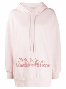 Stella McCartney Handle with Care hooded sweatshirt - PINK