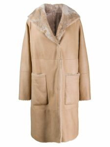 Manzoni 24 single-breasted coat - NEUTRALS