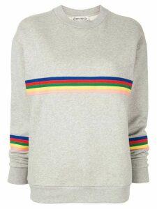 Être Cécile striped sweatshirt - Grey