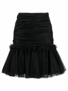 Brognano tulle ruffled-hem skirt - Black