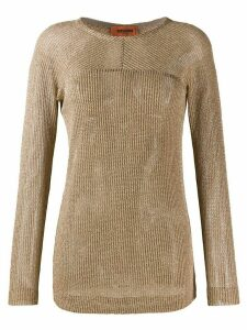 Missoni mesh style knitted top - GOLD