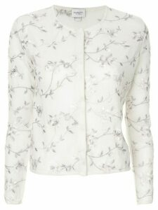 Giambattista Valli embroidered floral cardigan - White