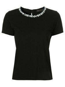Anteprima tweed trim T-shirt - Black