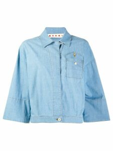 Marni denim bowling shirt - Blue
