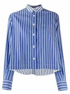 Sacai boxy fit striped shirt - Blue