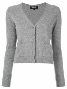 Paule Ka cropped knit cardigan - Grey