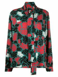 Marni palm leaf print blouse - Black