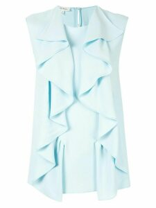 Delpozo ruffled vest top - Blue