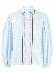 Miu Miu frill detail blouse - Blue