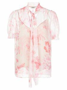 Jason Wu sheer floral print blouse - PINK
