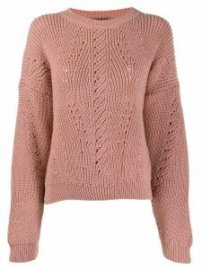 Alberta Ferretti round neck sweater - PINK