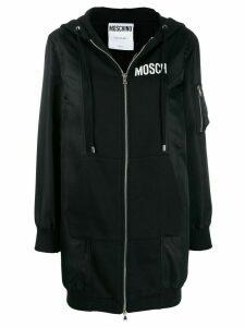 Moschino logo hoodie jacket - Black