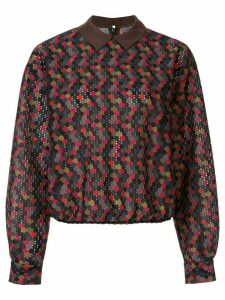 Kolor contrasting collar dotted blouse - Multicolour