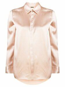 Adam Lippes satin buttoned shirt - PINK