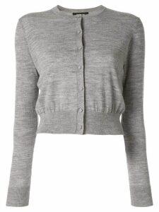 Paule Ka cropped knit cardigan - Grey