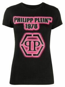 Philipp Plein crystal logo embellished T-shirt - Black