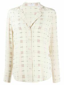 Equipment silk embroidered blouse - NEUTRALS