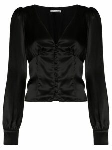 Reformation Cadence v-neck blouse - Black