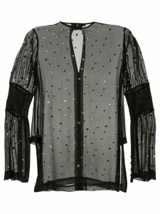 Kitx Carbon Galaxy studded blouse - Black