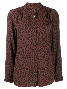 A.P.C. leopard print shirt - Brown