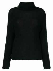 Jo No Fui tubular neck sweater - Black
