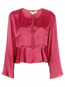 Opening Ceremony flared floral print blouse