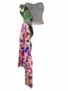 Natasha Zinko floral draped detail bustier top - PINK