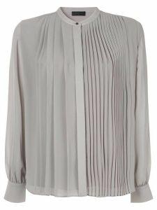 Anteprima pleated long-sleeved shirt - Grey