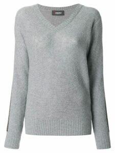 Jo No Fui V-neck pullover - Grey