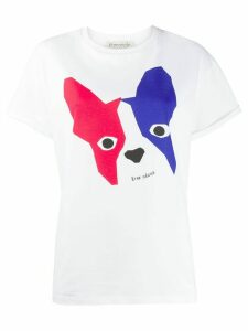Être Cécile short sleeve Dogface T-shirt - White
