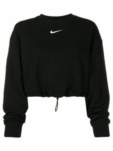 Nike drawstring-waist cropped sweatshirt - Black