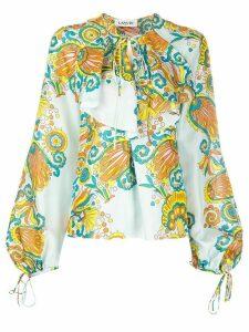 LANVIN floral print blouse - Black