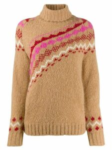Derek Lam 10 Crosby turtleneck knitted sweater - Brown