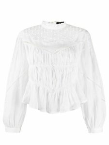 Isabel Marant ruched bell sleeve blouse - White