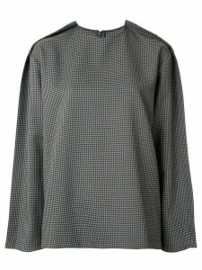 Maison Margiela houndstooth print top - Green