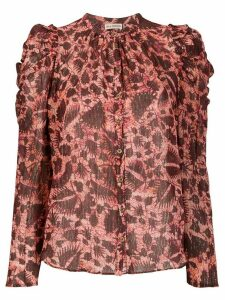 Ulla Johnson Adina foliage print blouse - Red