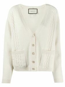 Gucci v-neck cardigan - NEUTRALS