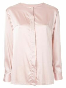 Bambah long-sleeved collarless blouse - PINK