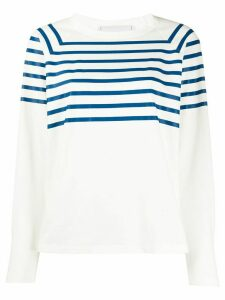 Philosophy Di Lorenzo Serafini striped raglan sleeve top - White