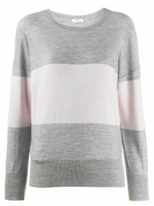 Peserico striped jumper - Grey