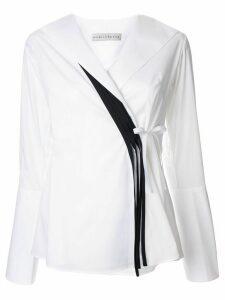 Palmer//Harding Radiant wrap blouse - White