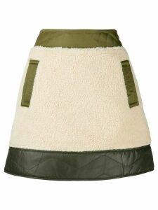 Moschino contrast mini skirt - NEUTRALS