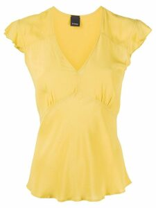 Pinko v-neck flared blouse - Yellow