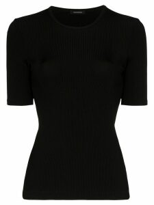 GOLDSIGN ribbed short-sleeve T-shirt - Black