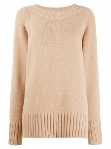 Maison Margiela oversized knitted jumper - NEUTRALS