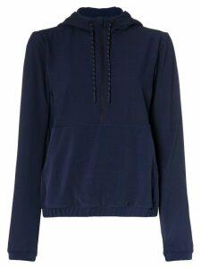LNDR Commuter zip front hoodie - Blue
