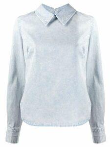 Rachel Comey curved hem back buttoned shirt - Blue