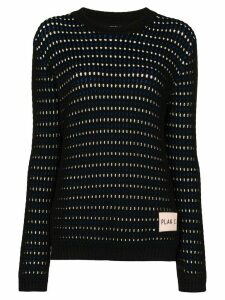 Plan C reversible knitted cotton jumper - Black