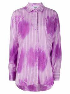 MSGM striped tie-dye print shirt - PURPLE