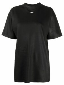 Off-White waxed effect logo T-shirt - Black